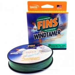 Шнур плетеный FINS WindTamer green 135м
