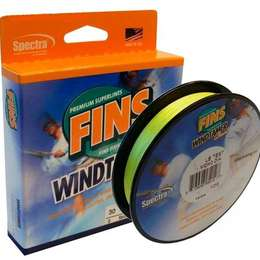 Шнур плетеный FINS WindTamer yellow 135м